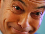 Brexit party leader Nigel Farage smiles as he campaigns in Hartlepool, England, Monday, Nov. 11, 2019. Hartlepool has elected lawmakers from the left-of-center Labour Party for more than half a century. But in 2016, almost 70% of voters here backed leaving the European Union. More than three years later, the U.K. is still an EU member, and loyalty to Labour has been eroded by frustration. (AP Photo/Frank Augstein)