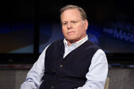 FILE - In this March 13, 2018, file photo Discovery Communications CEO David Zaslav is interviewed by host Maria Bartiromo on the