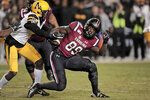 South Carolina's Bryan Edwards (89) records a catch against an Appalachian State defender in the second half of an NCAA college football game, on Saturday, Nov. 9, 2019, in Columbia, S.C. (Dwayne McLemore/The State via AP)