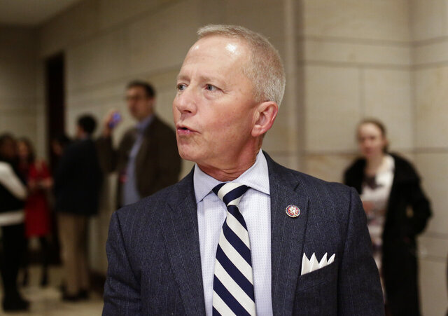 In this file photo from Jan. 3, 2019, Rep. Jeff Van Drew, D-N.J., arrives for a classified briefing on Capitol Hill in Washington. Van Drew, a Democrat who plans to switch and become a Republican, has said he plans to vote this week against impeaching President Donald Trump.The freshman represents a southern New Jersey district that Trump carried in 2016 and was expected to face a difficult reelection next year. (AP Photo/J. Scott Applewhite, file)