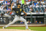 Pittsburgh Pirates starting pitcher Dario Agrazal (67) throws during the second inning of a baseball game against the New York Mets, Friday, July 26, 2019, in New York. (AP Photo/Corey Sipkin)