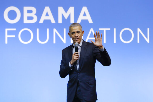 FILE - This Dec. 13, 2019 file photo shows former President Barack Obama speaking at the Gathering of Rising Leaders in the Asia Pacific, organized by the Obama Foundation in Kuala Lumpur, Malaysia. Obama will deliver a televised prime-time commencement address for the Class of 2020 during an hour-long event that will also feature LeBron James, Malala Yousafzai and Ben Platt, among others. ABC, CBS, FOX, and NBC will simultaneously air the special May 16 at 8 p.m. Eastern, along with more than 20 other broadcast and digital streaming partners, according to the announcement Tuesday from organizers. (AP Photo/Vincent Thian, File)