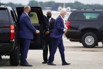 President Joe Biden arrives to board Air Force One, Friday, Sept. 17, 2021, at Andrews Air Force Base, Md. Biden is spending the weekend at his home in Rehoboth Beach, Del. (AP Photo/Patrick Semansky)