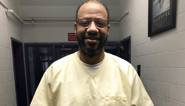 This photo provided by attorney, Kelley Henry shows Pervis Payne.  Payne, an inmate scheduled to be executed in December 2020 is asking a Shelby County court to order DNA testing of the evidence in his case.  Payne has always maintained he is innocent in the 1987 stabbing deaths of Charisse Christopher and her 2-year-old daughter.  DNA evidence in the case has never been tested.  (Kelley Henry via AP)
