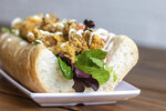 This Dec. 20, 2020 photo, shows a po-boys at NOLA Vegan in New Orleans, made with fried mushrooms. (Todd A. Price/The Daily Advertiser via AP)