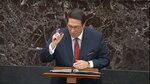 In this image from video, personal attorney to President Donald Trump, Jay Sekulow, speaks during the impeachment trial against President Donald Trump in the Senate at the U.S. Capitol in Washington, Monday, Jan. 27, 2020. (Senate Television via AP)
