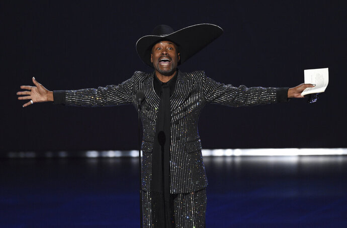 Billy Porter accepts the award for outstanding lead actor in a drama series for
