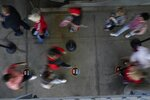 Fans arrive before the NFL Super Bowl 55 football game between the Kansas City Chiefs and Tampa Bay Buccaneers, Sunday, Feb. 7, 2021, in Tampa, Fla. (AP Photo/Charlie Riedel)
