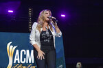 Trisha Yearwood performs at the 2021 ACM Party for a Cause at Ascend Amphitheater on Tuesday, August 24, 2021, in Nashville, TN. (Photo by Amy Harris/Invision/AP)