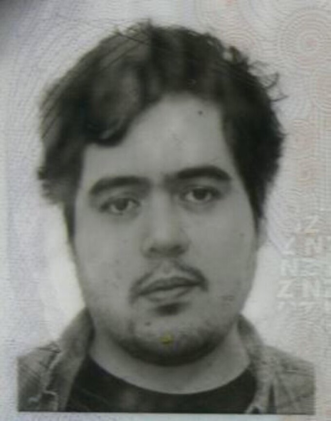 FILE - This photo provided by the Goochland County Sheriff's Office shows a New Zealand passport photo, of Troy George Skinner, who was shot while allegedly trying to kidnap a 14-year-old Virginia girl he met online. Skinner, 28, who was scheduled to face trial next month on two counts of attempted kidnapping and nine counts related to the production of child pornography, has reached a plea agreement with federal prosecutors. (New Zealand Passport Office/ Goochland County Sheriff's Office via AP)