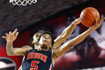 Auburn forward Chuma Okeke (5) shoots while being defended by Georgia forward Nicolas Claxton (33) during an NCAA college basketball game Wednesday, Feb. 27, 2019, in Athens, Ga. (Joshua L. Jones/Athens Banner-Herald via AP)