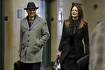 Harvey Weinstein defense attorneys Donna Rotunno and Arthur Aidala, arrive at court in his rape trial, in New York, Thursday, Feb. 13, 2020. (AP Photo/Richard Drew)