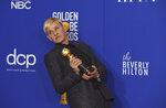 Ellen DeGeneres, winner of the Carol Burnett award, poses in the press room at the 77th annual Golden Globe Awards at the Beverly Hilton Hotel on Sunday, Jan. 5, 2020, in Beverly Hills, Calif. (AP Photo/Chris Pizzello)