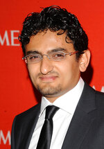 FILE - In this April 26, 2011 file photo, Egyptian Internet Activist Wael Ghonim attends the Time 100 Gala, celebrating the 100 most influential people in the world in New York.   Ghonim said late Thursday, Sept. 19, 2019 in a video on his twitter account that authorities raided his parents' house in Cairo and arrested his brother Hazem, whom he described as