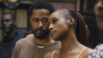 This image released by Universal Pictures shows LaKeith Stanfield, left, and Issa Rae in a scene from the film