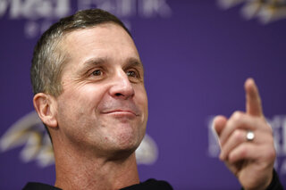 Ravens Harbaugh Football