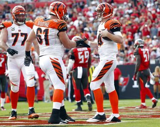 Andrew Whitworth, Russell Bodine, Andy Dalton