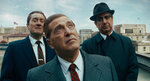 This image released by Netflix shows, from left, Robert De Niro, Al Pacino and Ray Romano in a scene from