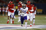Washington running back Sean McGrew (25) runs for a first down against Arizona during the first half of an NCAA college football game Saturday, Oct. 12, 2019, in Tucson, Ariz. (AP Photo/Rick Scuteri)