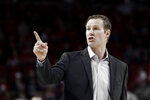 Nebraska coach Fred Hoiberg gestures during the first half of an NCAA college basketball game against Northwestern in Lincoln, Neb., Sunday, March 1, 2020. (AP Photo/Nati Harnik)