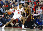 Ohio State's Kaleb Wesson, left, posts up against Minnesota's Daniel Oturu during the first half of an NCAA college basketball game Thursday, Jan. 23, 2020, in Columbus, Ohio. (AP Photo/Jay LaPrete)