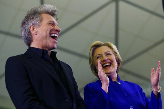 Hillary Clinton, Bon Jovi