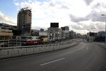 A highway is almost empty of cars during a lockdown aimed at curbing the spread of the coronavirus, in Beirut, Lebanon, Friday, Jan. 15, 2021. Lebanon's parliament has approved a draft law to allow the importing of vaccines into the tiny country to fight the spread of coronavirus. (AP Photo/Bilal Hussein)