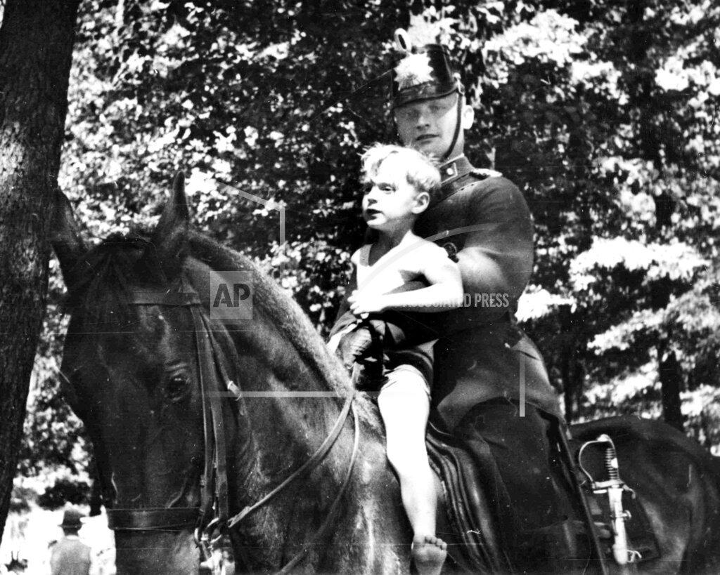 Watchf Associated Press International News   Germany APHSLDEU1 Berlin Mounted Policeman
