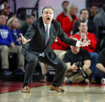 Kentucky head coach John Calipari reacts during the first half of an NCAA college basketball game against Georgia Tuesday, Jan. 15, 2019, in Athens, Ga. (AP Photo/John Bazemore)