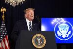 President Donald Trump speaks at Trump National Golf Club Bedminster in Bedminster, N.J., Friday, Aug. 7, 2020. (AP Photo/Susan Walsh)