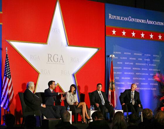 Bill Bennett, Scott Walker, Nikki Haley, Doug Ducey, Asa Hutchinson