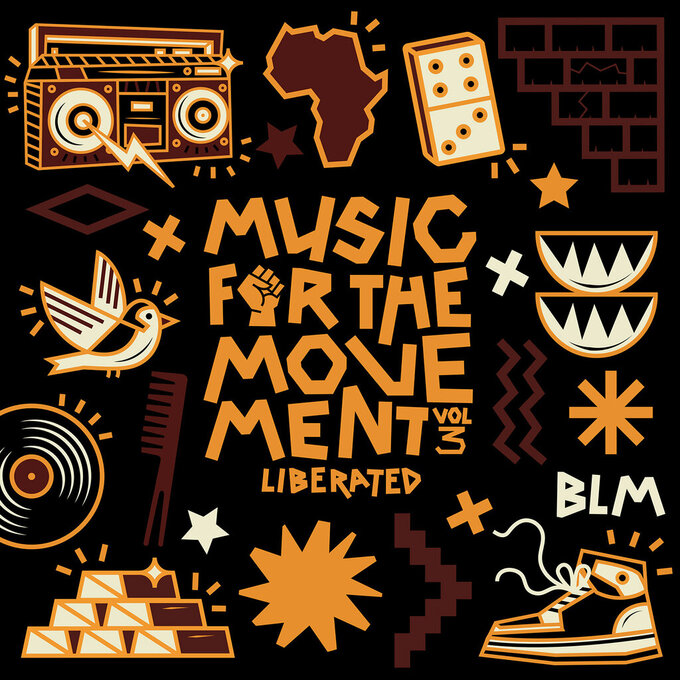 """This cover image released by Disney Music Group shows """"Music for the Movement Volume III – Liberated,"""" the third volume in Disney's four-part series of EPs honoring Black lives and social justice. (Disney Music Group via AP)"""