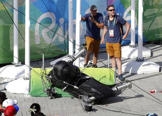 Rio Olympics Falling Camera