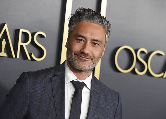"FILE - This Jan. 27, 2020 file photo shows Taika Waititi at the 92nd Academy Awards Nominees Luncheon in Los Angeles.  Waititi, the New Zealand filmmaker of ""Jojo Rabbit"" and ""Thor: Ragnarok,"