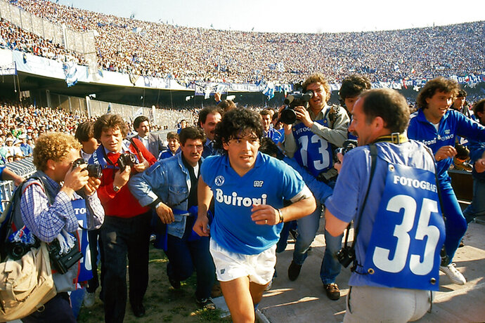 This image released by HBO shows soccer star Diego Maradona in a scene from