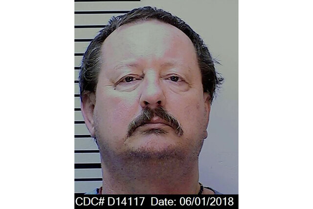 This June 1, 2018 photo provided by the California Department of Corrections and Rehabilitation shows death row inmate Troy A. Ashmus. Another California death row inmate has died from what appears to be complications of the coronavirus amid an outbreak sweeping through San Quentin State Prison. Corrections officials say the 58-year-old Ashmus died Monday, July 20, 2020, at an outside hospital. (California Department of Corrections and Rehabilitation via AP)