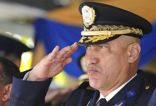 FILE - In this Dec. 21, 2012 file photo, Honduras Police Chief Gen. Juan Carlos Bonilla Valladares, also known as the Tiger, or