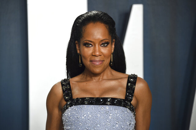 FILE _ In this Feb. 9, 2020 file photo, Regina King arrives at the Vanity Fair Oscar Party in Beverly Hills, Calif.  King is receiving awards season buzz for her new film