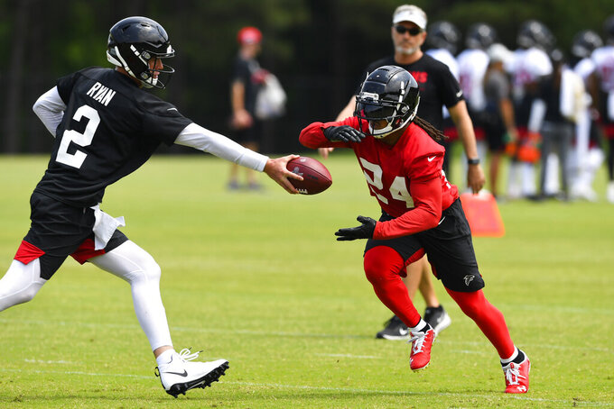 Falcons' Freeman feeling strong, says football is fun again