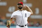 Detroit Tigers starting pitcher Ryan Carpenter throws during the first inning of a baseball game against the Boston Red Sox, Friday, July 5, 2019, in Detroit. (AP Photo/Carlos Osorio)