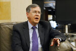 U.S. Deputy Assistant Secretary of State David Satterfield, speaks during his meeting with Lebanese Prime Minister Saad Hariri, in Beirut, Lebanon, Tuesday, May 14, 2019. Satterfield's visit comes a week after President Michel Aoun presented the U.S. ambassador to Lebanon with a