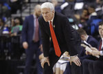 Davidson head coach Bob McKillop watches his team play during the first half of an NCAA college basketball game against Saint Louis in the semifinal round of the Atlantic 10 men's tournament Saturday, March 16, 2019, in New York. (AP Photo/Frank Franklin II)