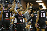 Gardner-Webb's bench reacts after a play against Virginia during a first-round game in the NCAA men's college basketball tournament in Columbia, S.C., Friday, March 22, 2019. (AP Photo/Richard Shiro)