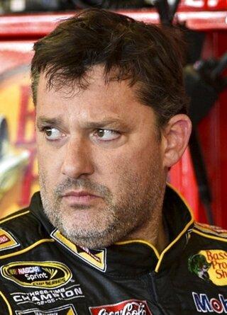 Tony Stewart Crash Auto Racing
