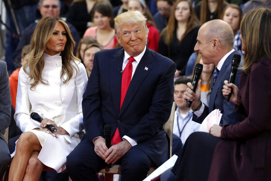 Donald Trump, Melania Trump, Matt Lauer, Savannah Guthrie