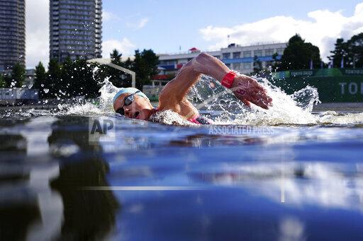 APTOPIX Tokyo Olympics Marathon Swimming