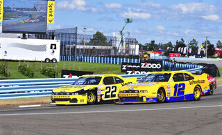Brad Keselowski, Sam Hornish Jr.