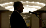 Malaysian Prime Minister Mahathir Mohamad delivers his speech during a business forum at the financial district of Makati, metropolitan Manila, Philippines on Thursday, March 7, 2019. (AP Photo/Aaron Favila)