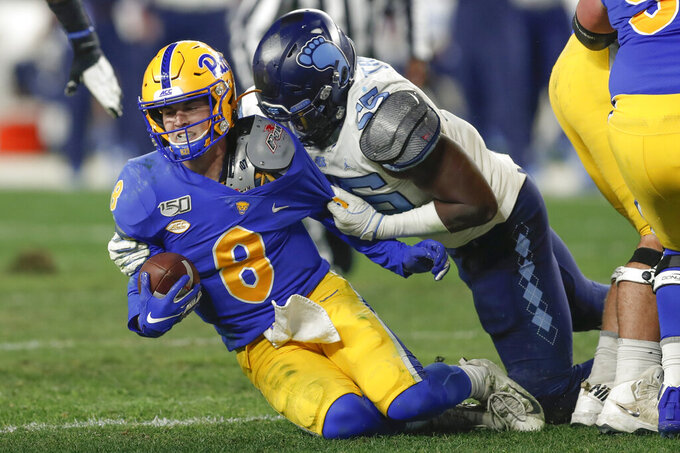 Pickett accounts for 3 TDs, Pitt edges UNC 34-27 in OT