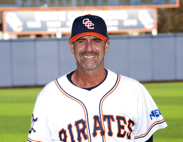 This undated photo released by Orange Coast College shows its head baseball coach John Altobelli. The Altobelli family has confirmed that John Altobelli, his wife Keri and daughter Alyssa were among those killed in the helicopter crash with NBA icon Kobe Bryant and his daughter Gianna in Calabasas, Calif., Sunday, Jan. 26, 2020. Alyssa played on the same team as Gianna, said Altobelli's brother Tony, who is the sports information director at the school. (Orange Coast College via AP)